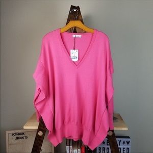 Pink Zara Sweater with Batwing Sleeves